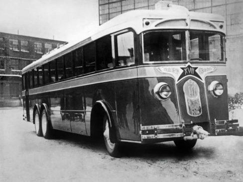 Троллейбус ЛК-3 (Фото 1934 года)