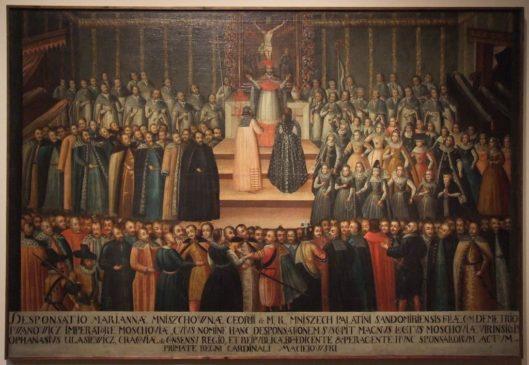 Заочное обручение Марины Мнишек с Лжедмитрием I в Кракове