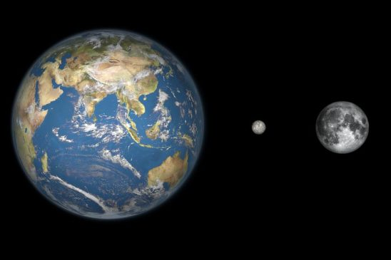 Сравнение Цереры с Землей и Луной