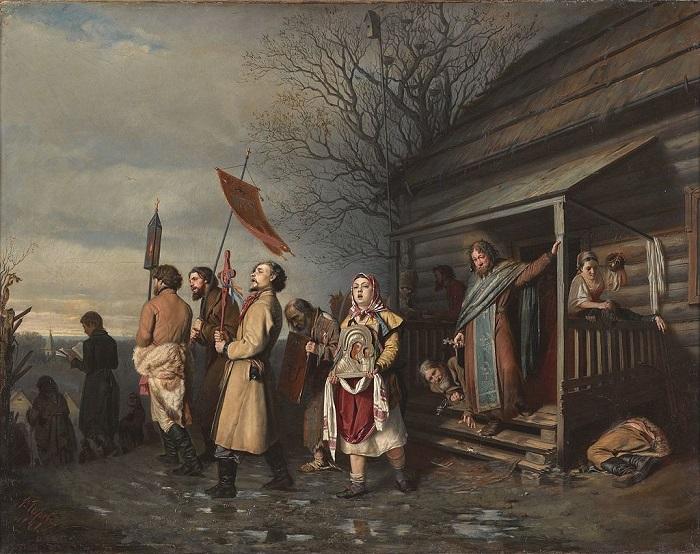 «Сельский крестный ход на Пасхе» (1861)