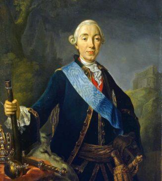 Коронационный портрет императора Петра III Федоровича работы Л.К. Пфанцельта