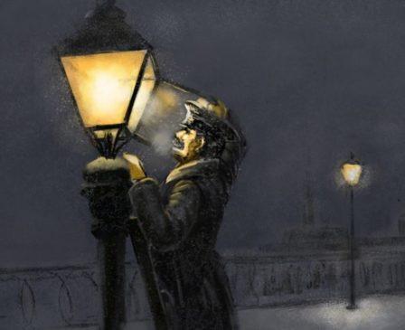 Первые электрические фонари засветились в Москве в 1880 году