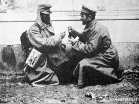 Братание солдат во время 1 мировой войны