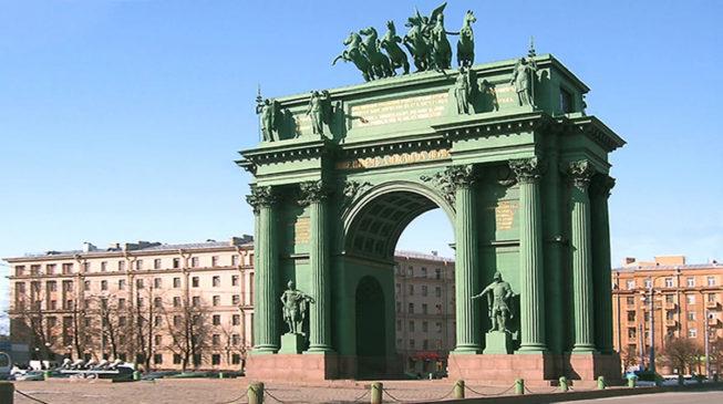 Триумфальные ворота у Нарвской заставы в Санкт-Петербурге