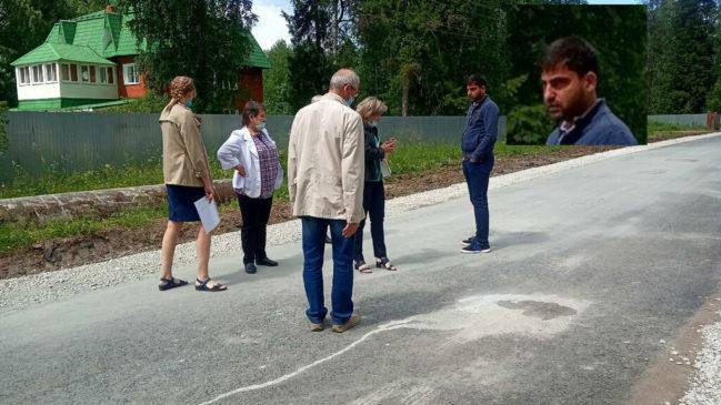 Комиссия не приняла отремонтированный участок дороги в переулке Большом Каретном