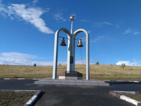 Памятный знак на Тоцком полигоне
