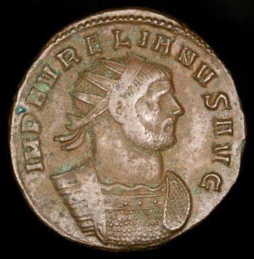 Портрет Аврелиана на золотой монете