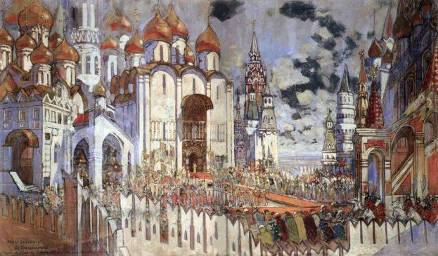 Эскиз декорации к опере М.П.Мусоргского «Борис Годунов»
