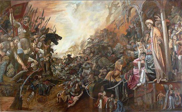 И.Файзуллин «Оборона Казани от войск Ивана Грозного. Апофеоз»
