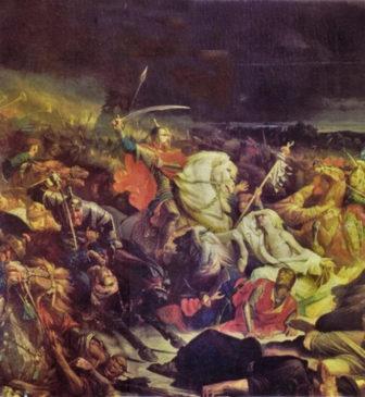 Картина Адольфа Ивона «Куликовская битва», 1859 год