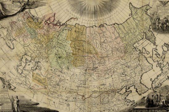 Генеральная карта Российской империи 1745 г.