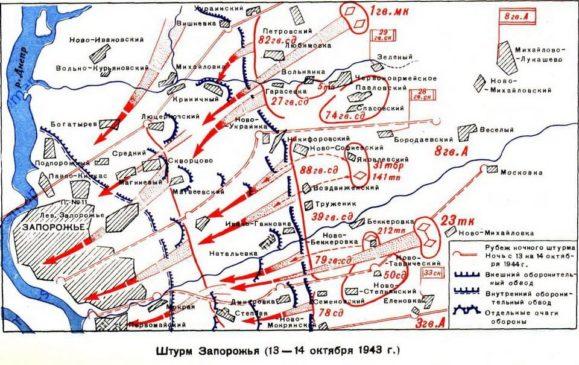 Советские войска освободили Запорожье
