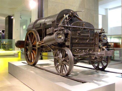 Подлинник паровоза «Ракета» в лондонском Музее науки
