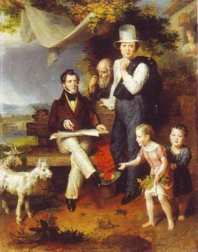 Джордж Доу в кругу семьи