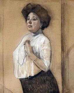 Портрет Надежды Ламановой работы Валентина Серова