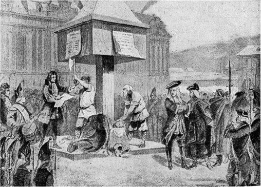 Смертную казнь заменили наказанием кнутом, отсечением пальца от левой руки и ссылкою в Сибирь