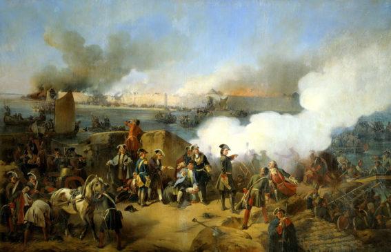 Картина А.Е. Коцебу «Штурм крепости Нотебург 11 октября 1702 года»