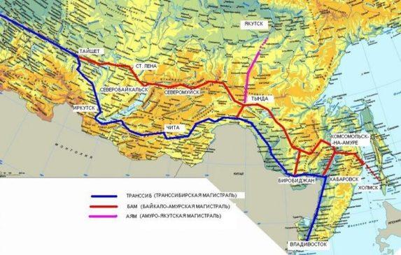 БАМ - одна из крупнейших железнодорожных магистралей в мире