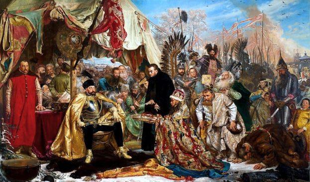 """Стефан Баторий под Псковом"" (Картина Я.Матейко, 1872)"